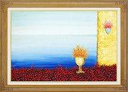 渡辺ムサシ『エーゲ海のバラ (M20号)』・油絵・油彩画
