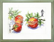 安藤洋重『香晨』・水彩画