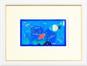 吉岡浩太郎『猫と魚』・シルクスクリーン
