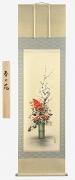 奥田拓也『春の花』の掛け軸・掛軸
