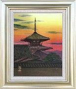 篠田雅典『法起寺(P8号)』・日本画